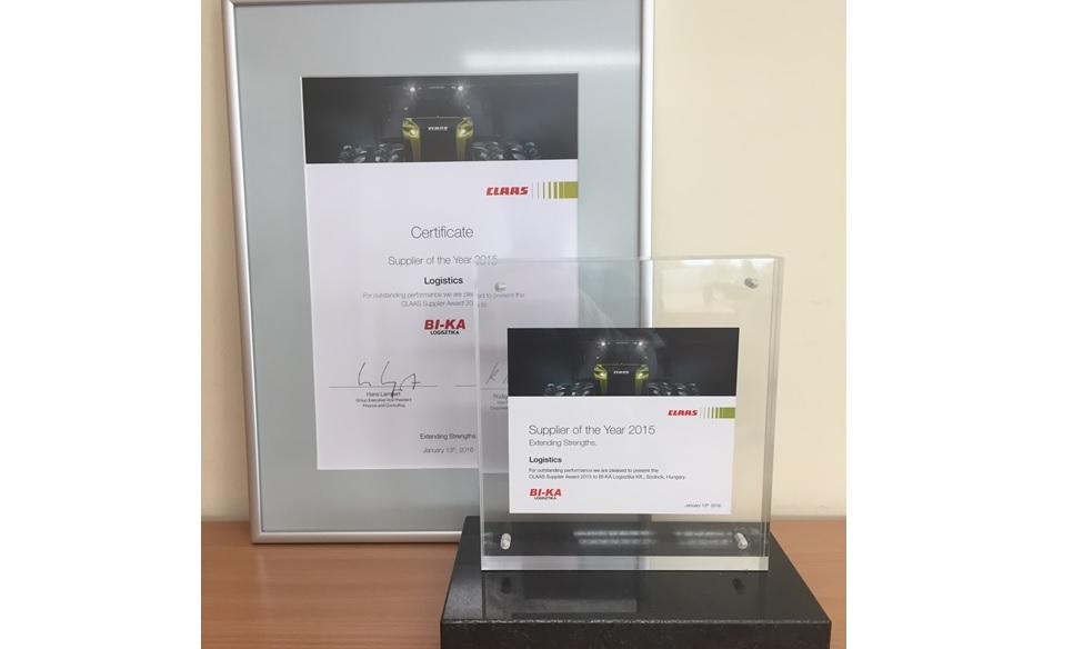 BI-KA Logisztika Kft. receiving international award